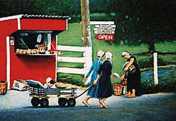 Amish life painting