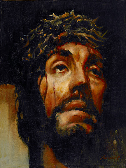 portrait of a suffering christ