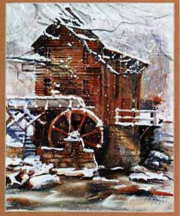 image of mill in snow